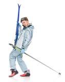 dziewczyny sportów kostiumu zima zdjęcia royalty free