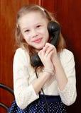 dziewczyny stary telefonu target1615_0_ Obraz Stock
