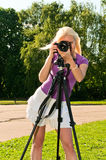 dziewczyny strzelanina fotografia royalty free