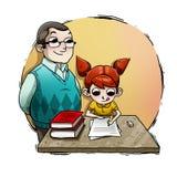Dziewczyny studiowanie ilustracji