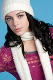 dziewczyny szalika zima Obraz Royalty Free