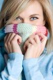 dziewczyny szalika zima Zdjęcia Royalty Free