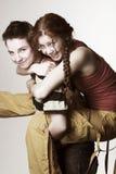 dziewczyny szczęśliwi dwa Zdjęcia Stock