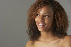 dziewczyny szczęśliwy portreta studio nastoletni Fotografia Stock