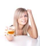 dziewczyny szkła whisky Obraz Stock