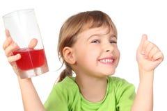 dziewczyny szklanego mienia soku mały ja target2152_0_ Obraz Royalty Free