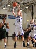 Dziewczyny szkoły średniej koszykówka fotografia royalty free