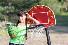 Dziewczyny sztuki koszykówka Obraz Royalty Free