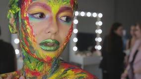 Dziewczyny sztuki makeup akwarela zbiory