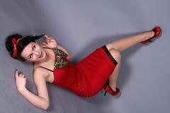 dziewczyny TARGET1693_0_ szpilka obraz royalty free
