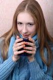 dziewczyny TARGET2167_0_ herbata Obrazy Royalty Free