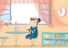 dziewczyny TARGET2183_0_ mleko Zdjęcie Stock