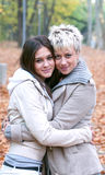 dziewczyny target474_1_ naturę dwa zdjęcie royalty free