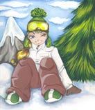 dziewczyny target81_0_ ilustracja wektor