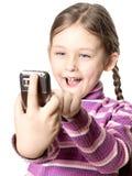 dziewczyny telefon komórkowy Zdjęcia Royalty Free