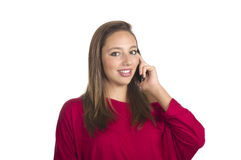 dziewczyny telefon komórkowy rozmowy Zdjęcie Royalty Free