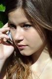 dziewczyny telefonu mądrze nastoletni Obrazy Royalty Free
