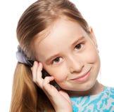dziewczyny telefonu target325_0_ Obraz Royalty Free