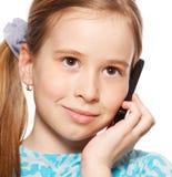 dziewczyny telefonu target569_0_ Zdjęcie Royalty Free