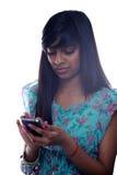 dziewczyny texting nastoletni Obrazy Stock