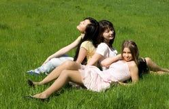 dziewczyny trzy Obrazy Stock