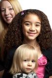 dziewczyny trzy Zdjęcia Royalty Free