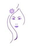 Dziewczyny twarz Obraz Royalty Free