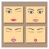 Dziewczyny twarz Zdjęcie Stock