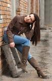 dziewczyny tylna ulica Fotografia Stock