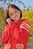 dziewczyny uśmiechu cukierki fotografia stock