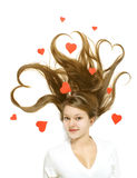 dziewczyny valentine Zdjęcia Stock
