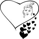 dziewczyny valentine Obraz Royalty Free