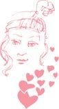 dziewczyny valentine Fotografia Stock