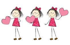 dziewczyny valentine s Obraz Royalty Free
