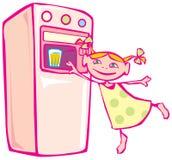 dziewczyny vending mały maszynowy Royalty Ilustracja
