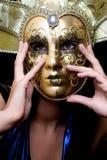 dziewczyny venetian maskowy Zdjęcia Royalty Free