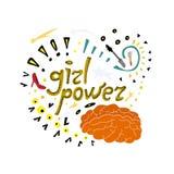 Dziewczyny władzy doodle Feministyczna ilustracja royalty ilustracja