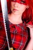 dziewczyny włosy czerwień Zdjęcia Stock