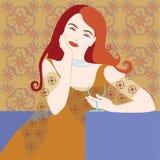 dziewczyny włosy czerwień Zdjęcia Royalty Free