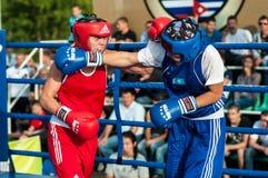 Dziewczyny w bokserskiej rywalizaci Obraz Stock