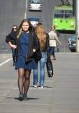 Dziewczyny w Kaunas Fotografia Stock