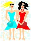 Dziewczyny w okularach przeciwsłonecznych ilustracji