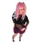 dziewczyny włosy menchii ruch punków Zdjęcia Stock