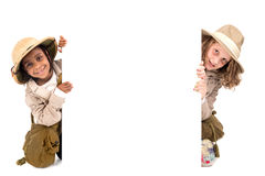 Dziewczyny w safari odziewają Fotografia Stock