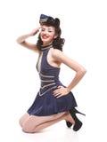dziewczyny wałkowy studia styl wałkowy Zdjęcia Royalty Free
