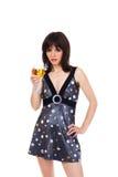 dziewczyny wino szklany plciowy Fotografia Stock