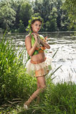dziewczyny woda Obrazy Royalty Free