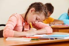 dziewczyny writing obraz royalty free