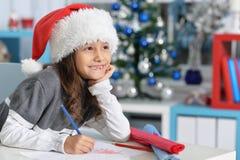 Dziewczyny writing list Fotografia Royalty Free