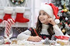 Dziewczyny writing list Obraz Royalty Free